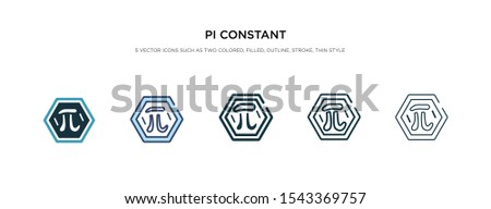 pi constant icon in different style vector illustration. two colored and black pi constant vector icons designed in filled, outline, line and stroke style can be used for web, mobile, ui