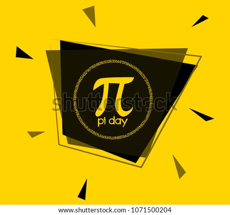 pi day, square sign or label for holidays event poster festival theme