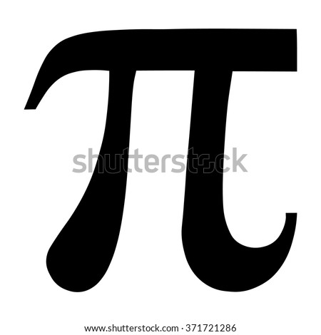 Pi greek letter icon, Pi symbol isolated vector illustration.