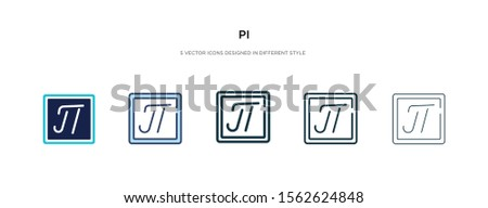 pi icon in different style vector illustration. two colored and black pi vector icons designed in filled, outline, line and stroke style can be used for web, mobile, ui