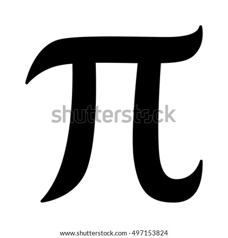Pi 3.14 mathematical constant sign or symbol flat icon for math apps and websites