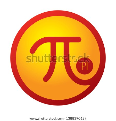 pi number. vector pi number symbol