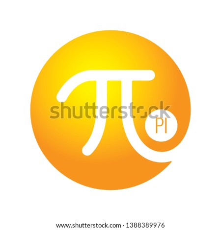pi number. vector pi number symbol illustration