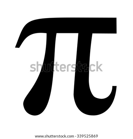 Pi symbol icon . Vector illustration