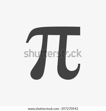 Pi symbol isolated on grey background. Vector illustration, EPS10. #397270942