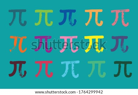 Pi Symbol Pattern, Mathematical Constant, Grunge Texture, Illustration, pi day, 14 march, sign pi, texture, typography, mathematic, circumference, math class, grunge, vector design, mathematics symbol