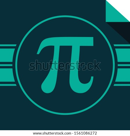 PI symbol. Pi vector icon in circle
