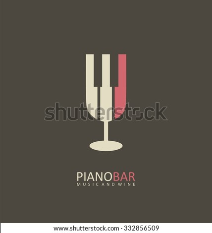 piano bar creative symbol
