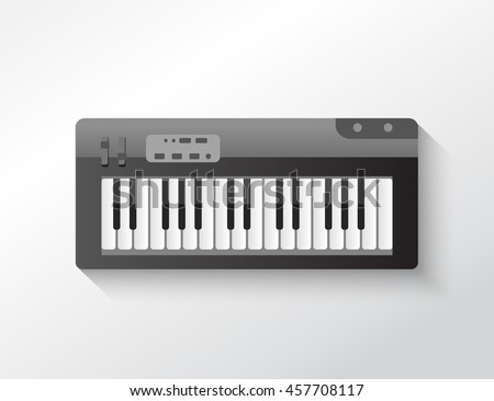 piano 3d icon vector design