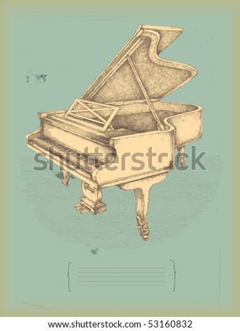 piano drawing