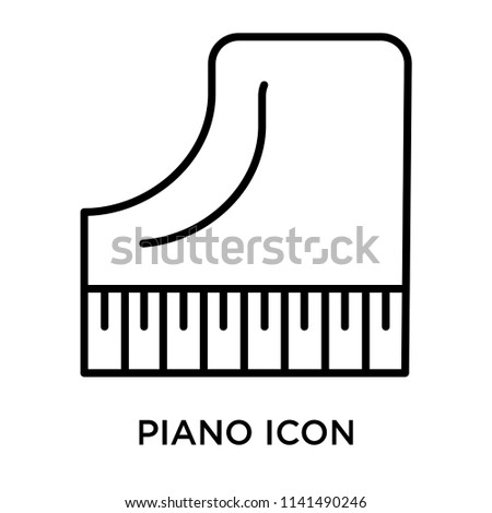 Piano icon vector isolated on white background for your web and mobile app design, Piano logo concept