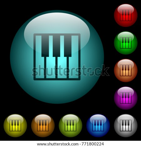 piano keyboard icons in color