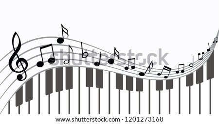 piano keyboard music notes