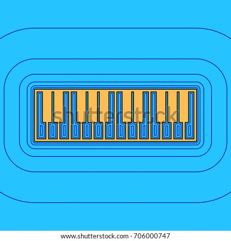 piano keyboard sign vector