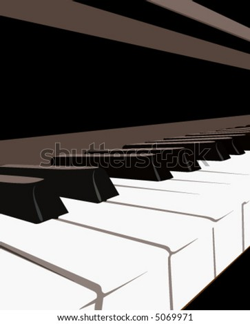 Piano Keyboard, vector