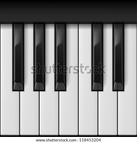 piano keys cool illustration