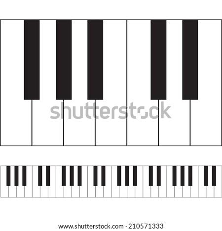 piano keys illustration vector