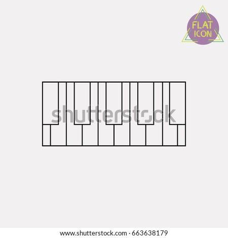 piano line icon