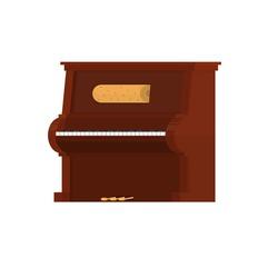 Piano. musical instrument, vector illustration