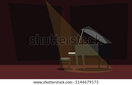 piano on stage vector
