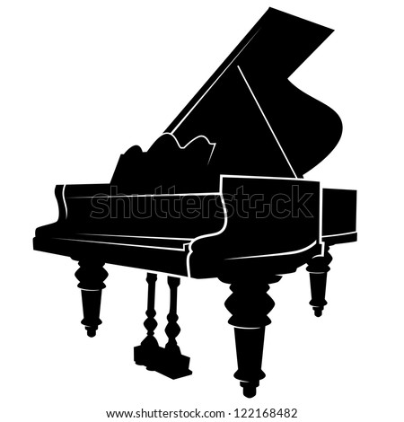 piano simple vector image