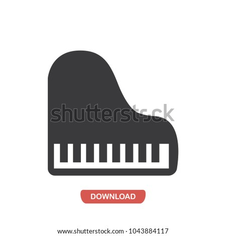 Piano vector icon