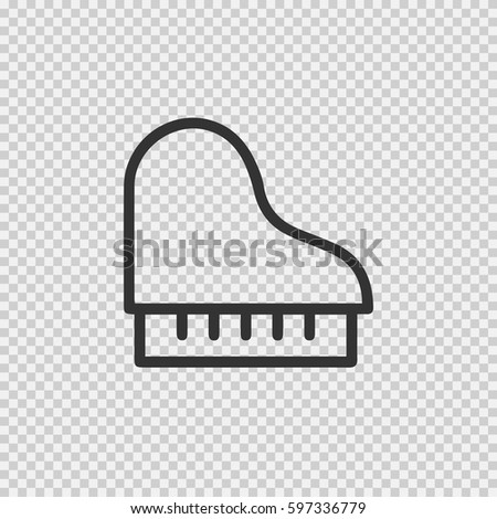 Piano vector icon eps 10 on transparent background.