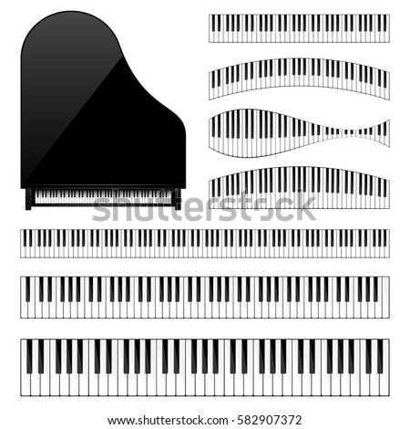 piano with keyboard key