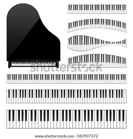 piano with keyboard key