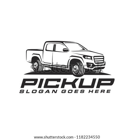 Pick up truck vector, pick up truck logo template