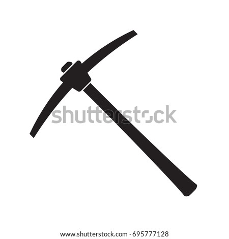 pickaxe mining tool icon