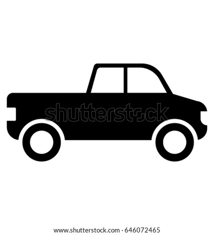 pickup car glyph vector icon