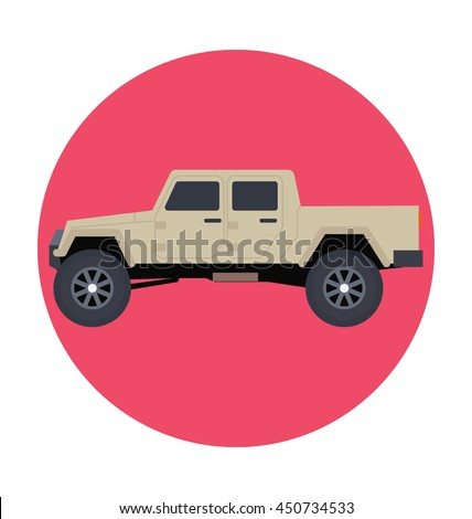 pickup car vector icon