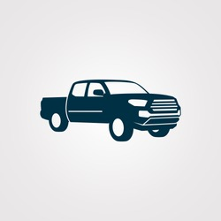 Pickup truck vector illustration. silhouette