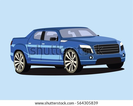 pickup vector blue