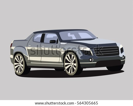 pickup vector grey