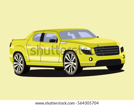 pickup vector yelow