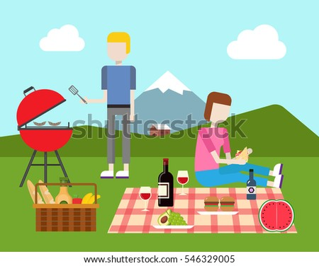 picnic and barbecue flat
