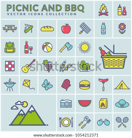 picnic and barbecue modern web