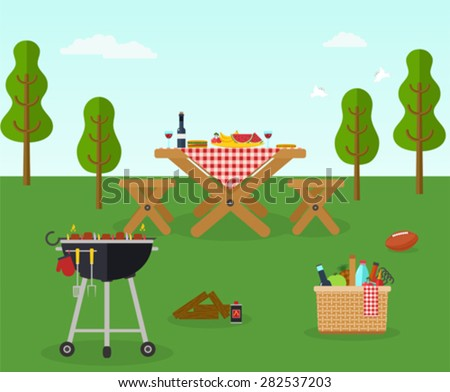 Picnic bbq party outdoor recreation