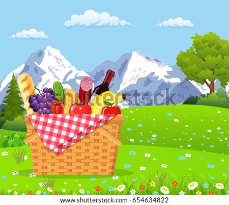 picnic in the mountains wicker