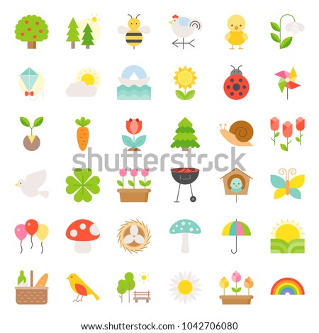 picnic  nature and spring icon