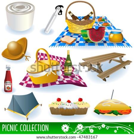 picnic vector illustrations