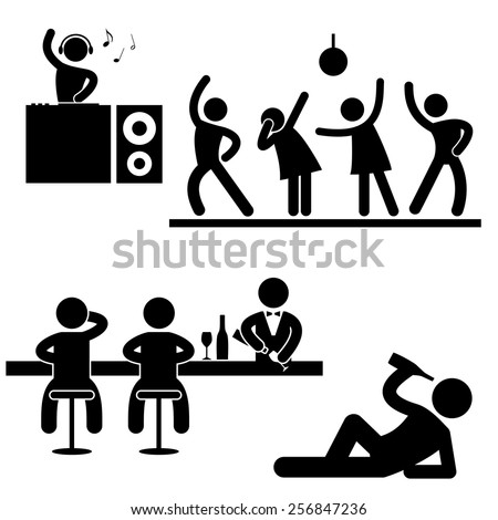 pictogram disco party