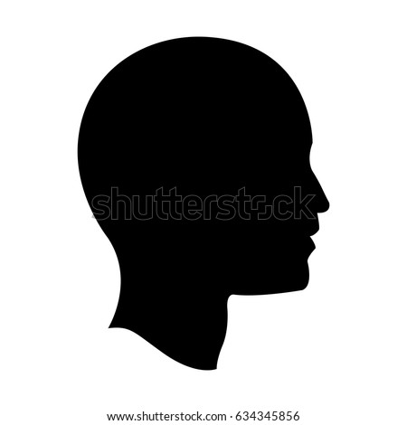 pictogram profile head human man