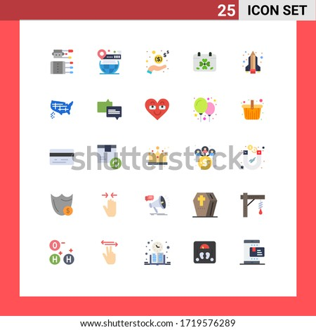 pictogram set of 25 simple flat