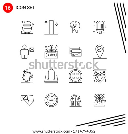 pictogram set of 16 simple