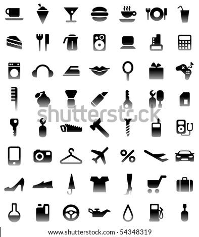 pictograms - stock vector