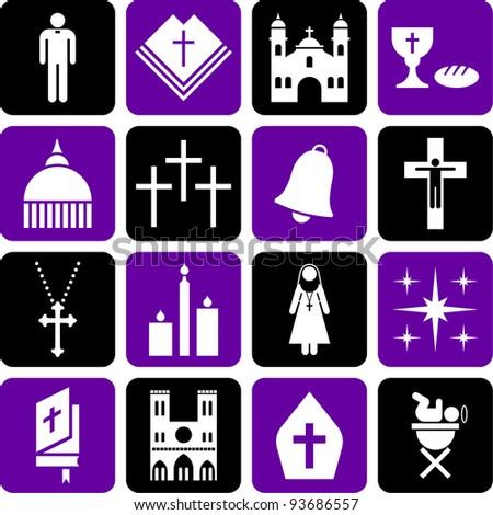 Pictograms of the Catholic religion