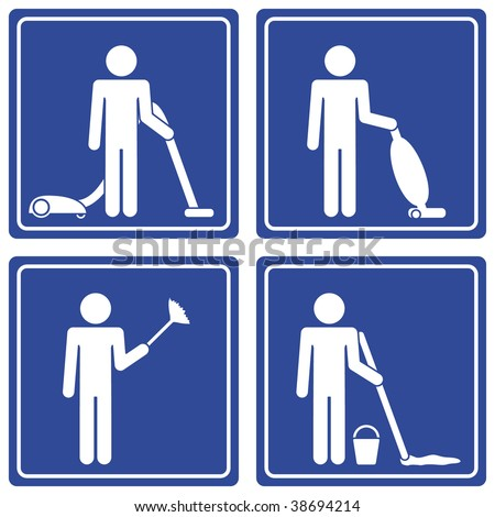Pictograph - cleaning, male